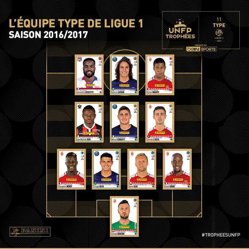 Ligue 1 Team of the Year 2016 17