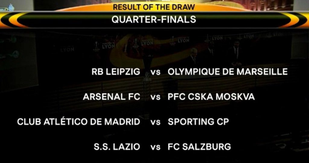 EL QF Draw Result 2017 2018
