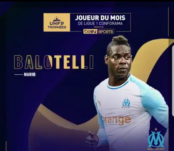 Balotelli Player of the Month March 2019