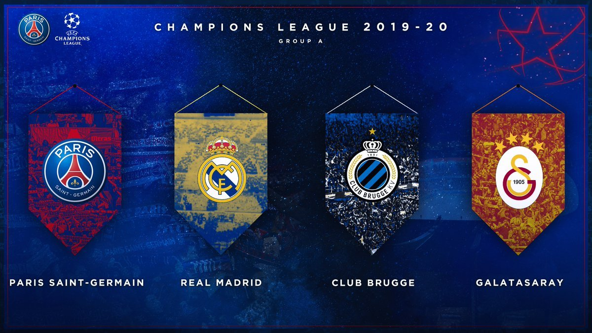 PSG Group A Champions League 19-20